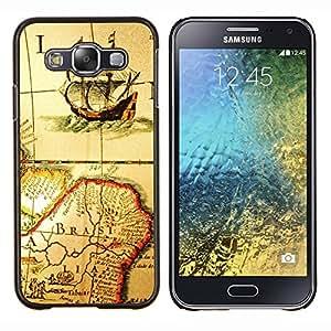 Be-Star Único Patrón Plástico Duro Fundas Cover Cubre Hard Case Cover Para Samsung Galaxy E5 / SM-E500 ( Antico Vecchio programma Ship Brasile Continente vela )