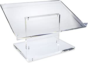 SourceOne Modern Clear Thick Acrylic Podium Lectern 22 x 12 x 15 (Tabletop)