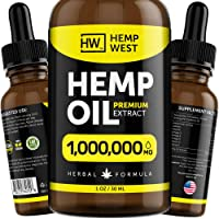 Hemp Oil 1,000,000 MG for Pain, Anxiety Relief - Sleep Support - Organic Extra Strong...