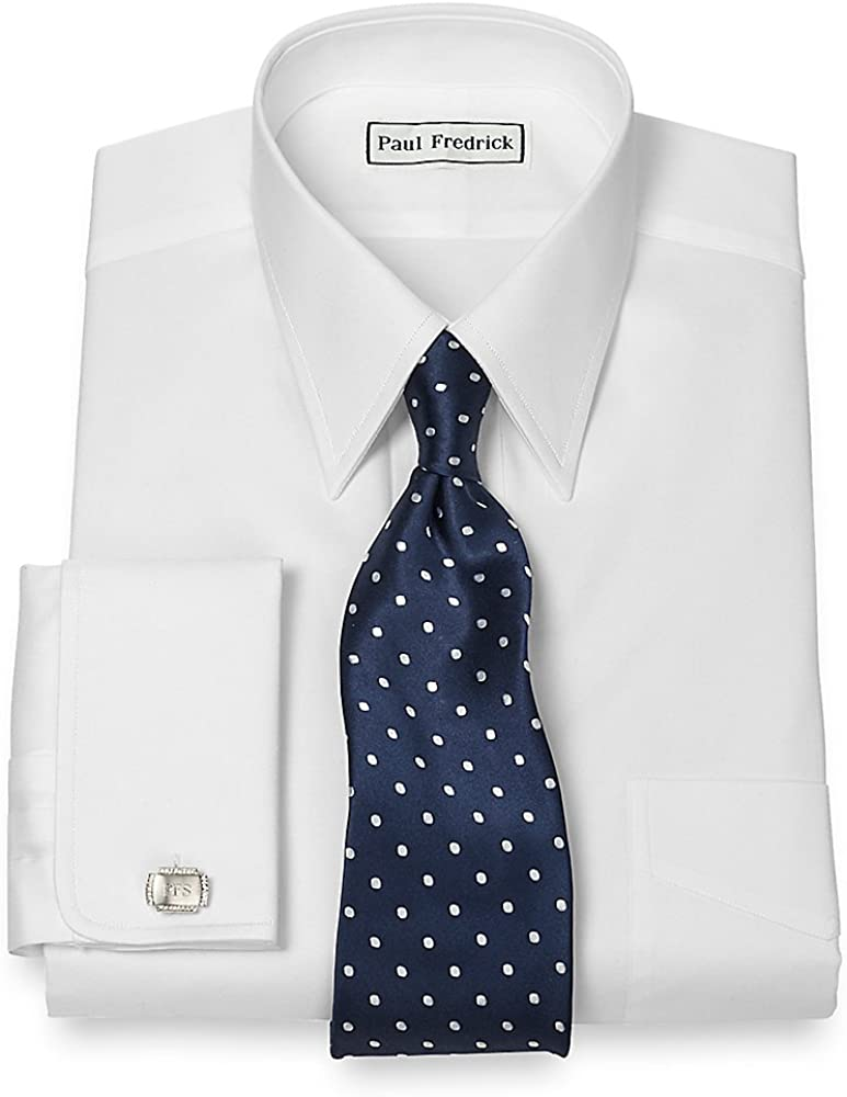 Paul Fredrick Men's Pinpoint Straight Collar Super beauty product restock quality top Dress S Cuff Reservation French