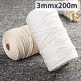 FidgetFidget Twisted Cord Rope Crafts Cotton String 200m