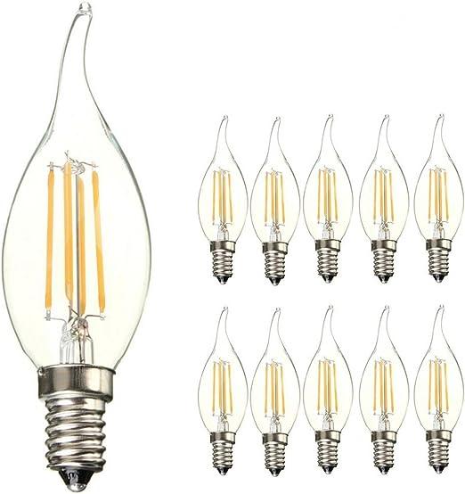 ANKEY 10 Pack E14 C35 Lámpara LED E14 Retrofit Classic, 40W ...