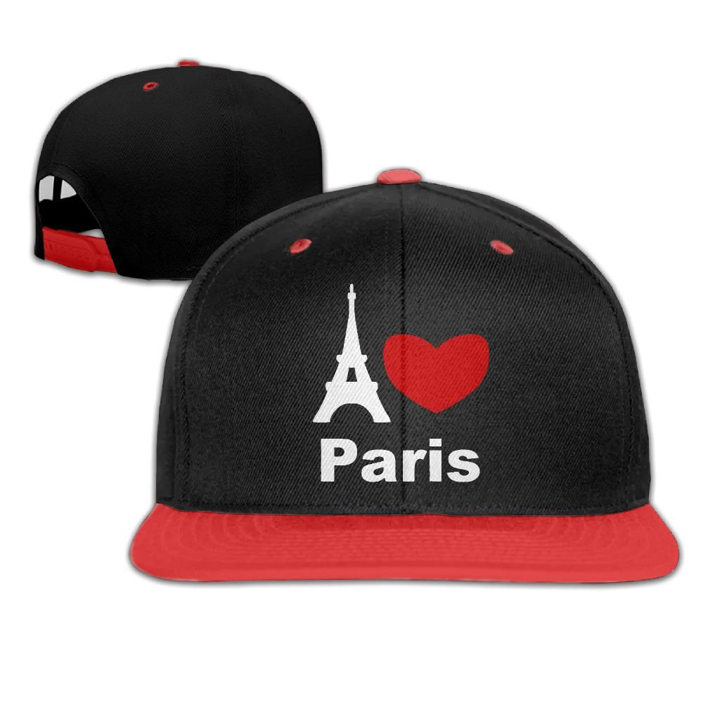 Women Mens I Love Paris Eiffel Tower Adjustable Hip-Hop Caps Peaked Cap