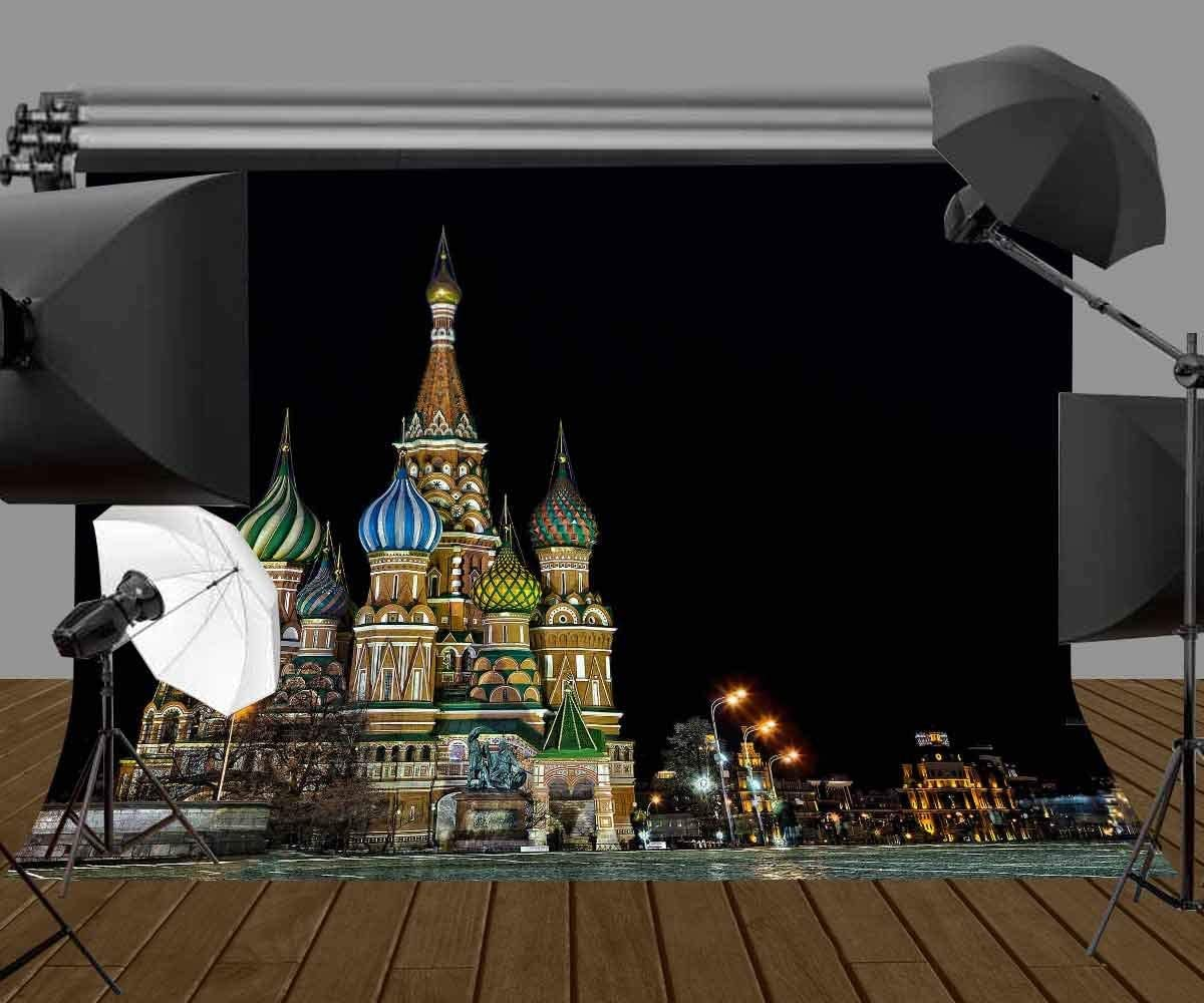 GoHeBe 10X7ft Polyester Photography Background Famous Russian Kremlin Backdrop for Studio Props LYGE655