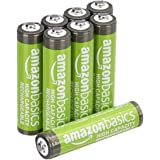 Amazon Basics AAA High-Capacity Ni-MH Rechargeable Batteries, Pre-charged - 8-Pack