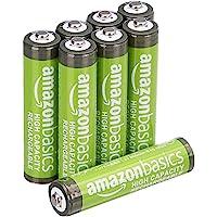 Amazonbasics Oplaadbare NiMH AAA-Batterijen 850 Mah, Verpakking Van 8 Stuks