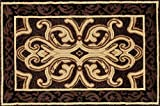 Art Carpet 841864119282 Hearth Rugs Collection, 3' x 4', Brown/Black