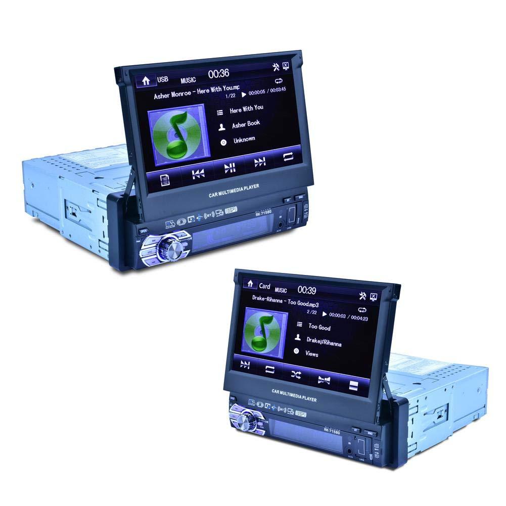 StageOnline 7 Pulgadas de Coche GPS Jugador Universal MP5 7158B de 7 Pulgadas para automó vil con funció n retrá ctil automá tica con cá mara retrovisora