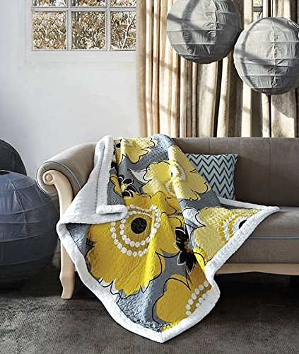 yellow throw quilt - 8