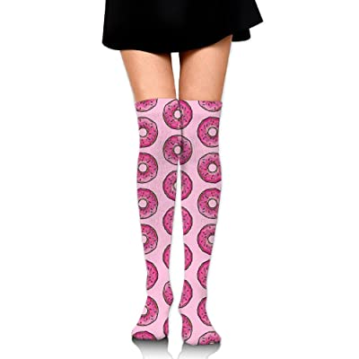 f75c19d996 WUMIARUA Stockings Pink Doughnut Knee High Graduated Compression Socks For  Women And Men Best Medical Running   Fitness