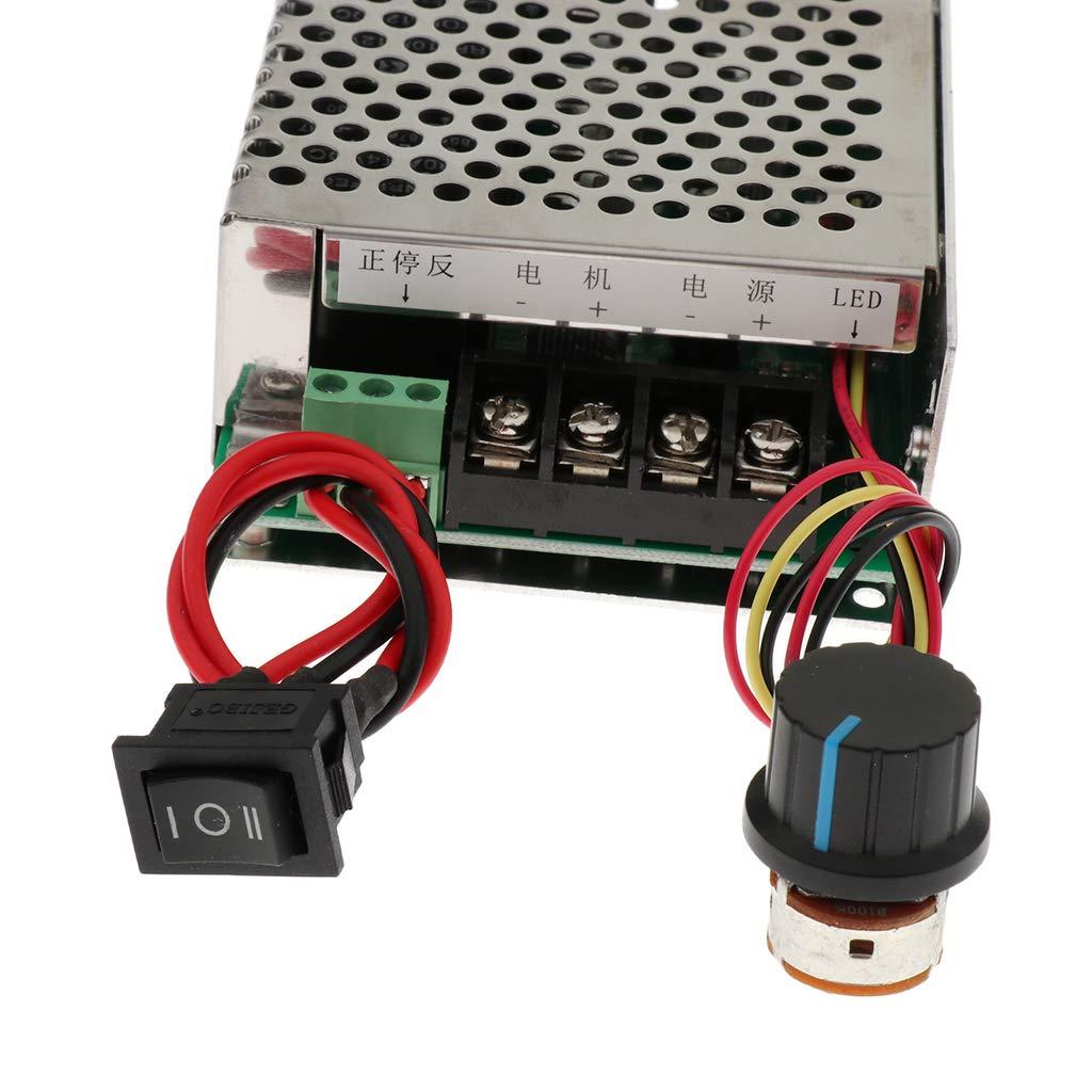 Homyl Controlador de Velocidad de Motor CW CCW Coche Motos Accesorios Potenci/ómetro