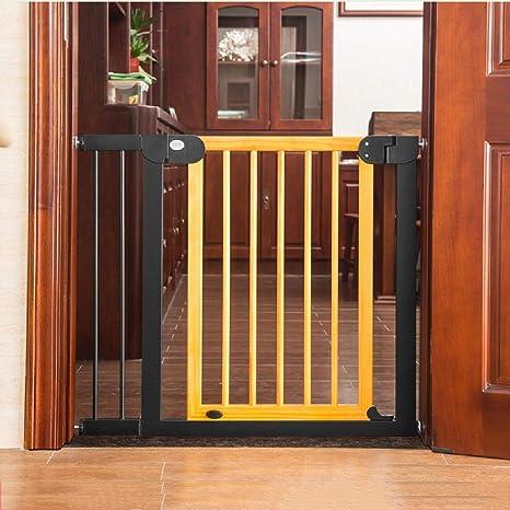 La puerta de seguridad para bebés de ajuste a presión/puerta de la puerta/ puerta de la escalera, sin taladrar, adecuada para escaleras , Easy Open Auto Close, viene con una extensión adicional de: