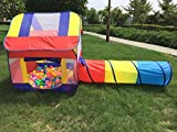 Image of WowTop Play Ball Tent with Tunnel for Kids