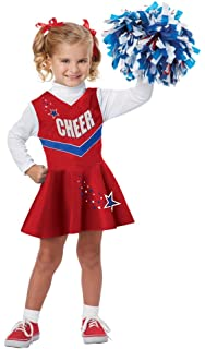 Amazon.com: Child\'s Toddler Red Cheerleader Halloween Costume ...