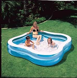 Piscina hinchable con asientos juguetes y juegos for Amazon piscinas infantiles