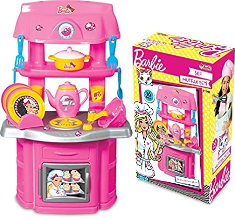 Barbie Chef Kitchen (65cm) Kitchen Playsets at amazon