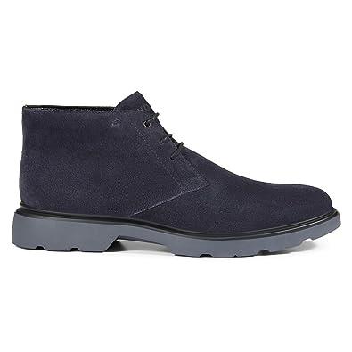 7368a301a7a HOGAN Men's Hxm3040w350hg0u810 Blue Suede Ankle Boots: Amazon.co.uk: Shoes  & Bags