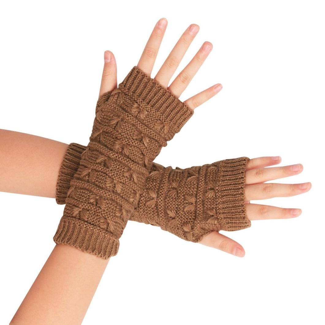 Damen-Handschuh, Sannysis Gestrickte Fingerhohl Warm Fäustlinge amonfineshop