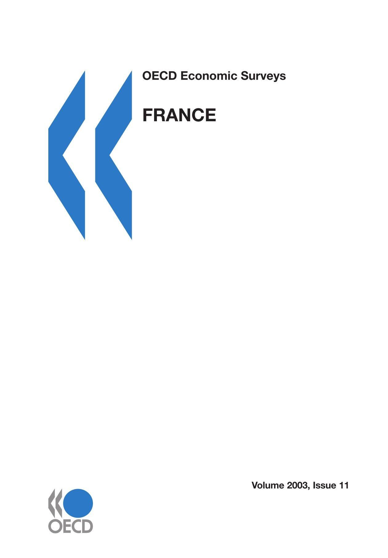 Read Online OECD Economic Surveys: France 2003 ebook