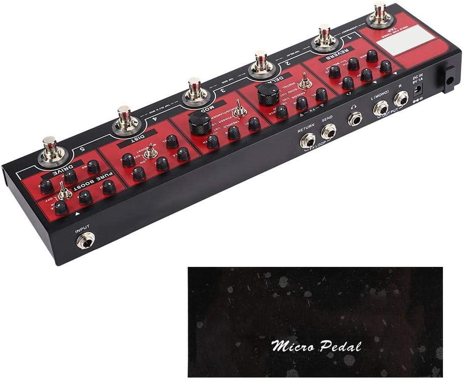 Jacksking Pedal de Efectos de Guitarra, Mini compresor analógico Pedal de Efectos de Guitarra eléctrica True Bypass Metal Shell