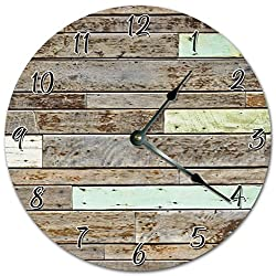 10.5 WEATHERED WOOD FLOOR CLOCK - CABIN, COTTAGE CLOCK - Large 10.5 Wall Clock - Home Decor Clock