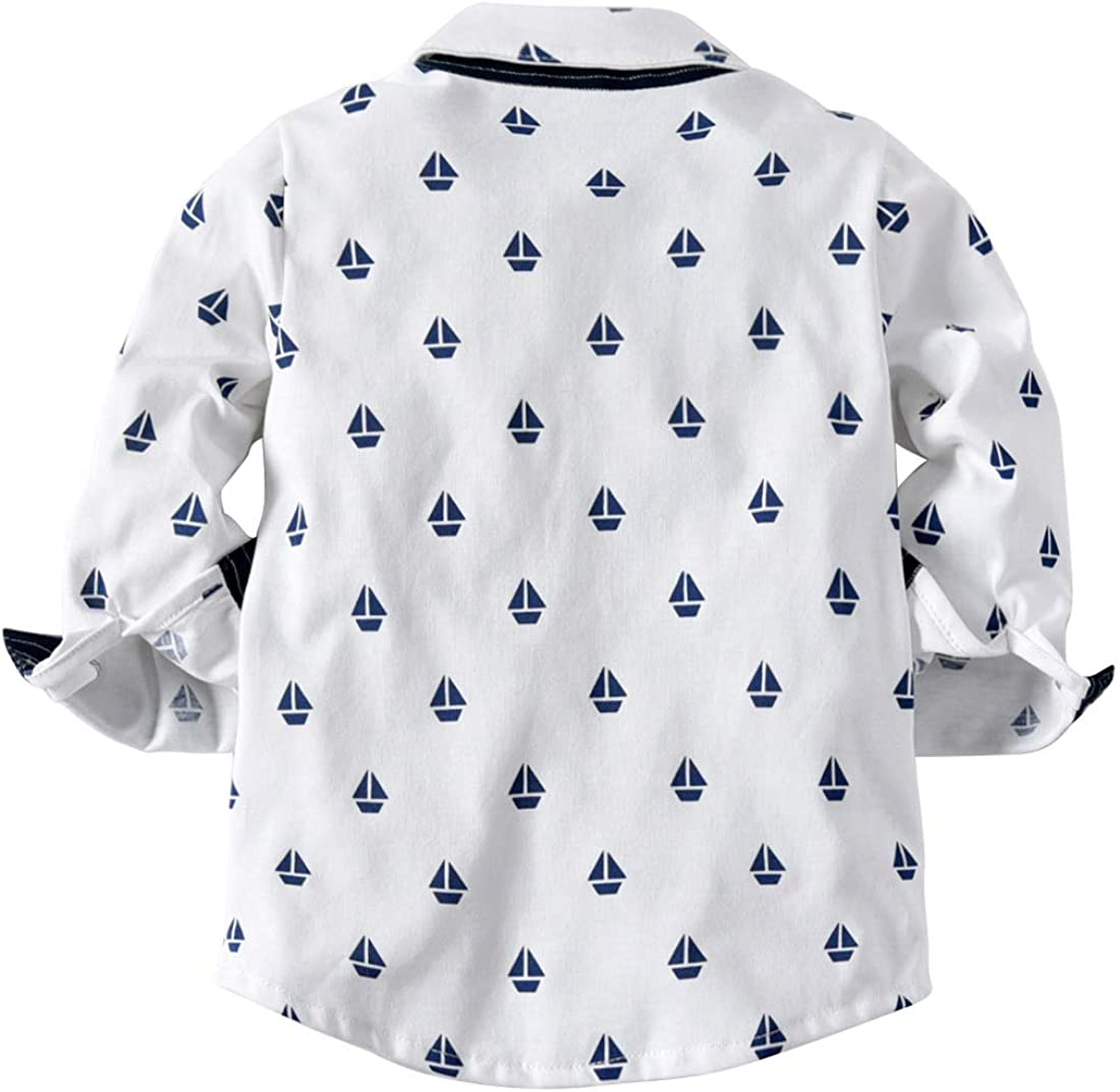 Toddler Boys Outfits Suit Infant Clothing Newborn Baby Boy Clothes Sets Gentleman Plaid Top+Tie+Suspender Pants White Triangulation Anchor Striped Strap Trousers L