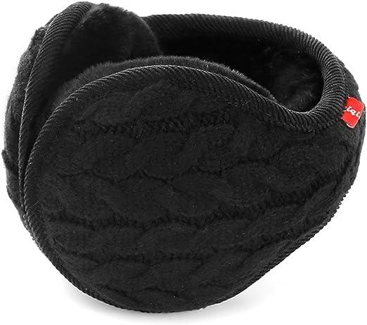 Butterme Unisex Knit Foldable EarMuffs Pl/üsch Samt Ohrensch/ützer Winterzubeh/ör Outdoor Ohrensch/ützer f/ür Herren /& Damen Schwarz