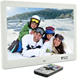 10.1 Inch Hi-Res TFT LED Digital Photo Frame & HD Video(1080P/720p)&Music Playback with 8GB Memory Card -White