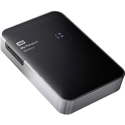 WD My Passport Wireless - Disco Duro Externo portátil de 2 TB, (Wi-Fi, Lector de Tarjetas), Negro