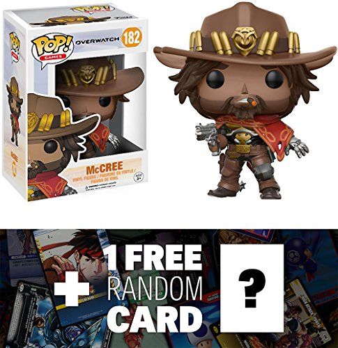 McCree: Funko POP! Games x Overwatch Vinyl Figure + 1 FREE Video Games Themed Trading Card Bundle (13087)
