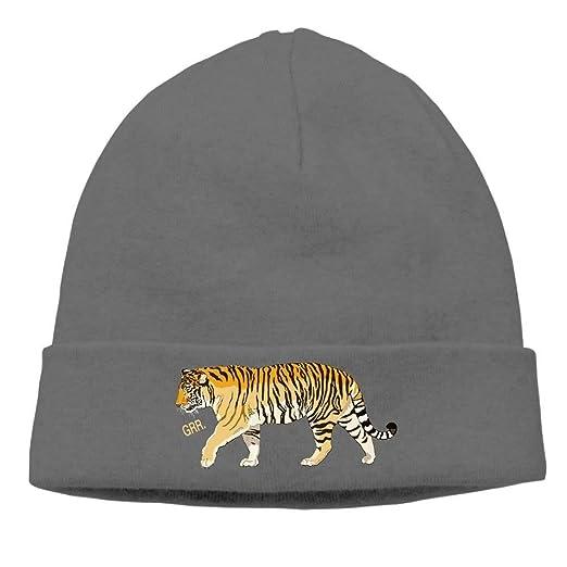 56deecef736431 Amazon.com: Tiger Soft Knit Beanie Hat Warm Thick Winter Hat for Men ...