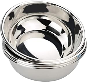 Ggbin 18/10 Stainless Steel Mixing Bowls, Heavy Duty Metal Salad Bowls, 1.5 Quart, Set of 4