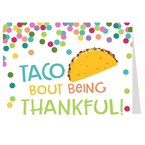 amazon com thank you cards taco bout a baby taco bout being