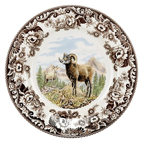 (Spode 1597068 Woodland Bighorn Sheep Dinner Plate)