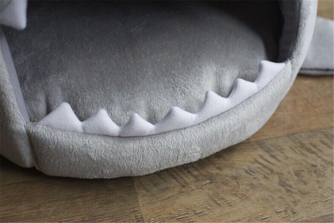 CHWWO Forma de Boca de Tiburón Perrera Nido de Mascotas Teddy Nest ...