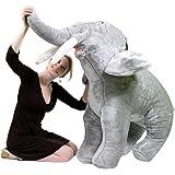Giant Stuffed Elephant 48 Inch Soft Big Plush Animal 4 Foot Realistic Jungle Animal