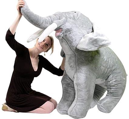 Big Plush American Made Giant Stuffed Elephant 48 Inch Soft Realistic  Jungle Animal 6ce39c6f8
