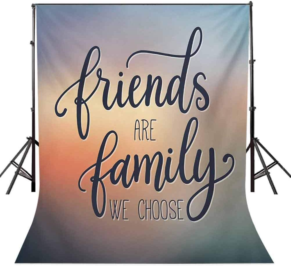 Family 10x12 FT Photo Backdrops,Friends are Famly We Choose Inspirational Phrase Fashion Print BFF Theme Background for Child Baby Shower Photo Vinyl Studio Prop Photobooth Photoshoot