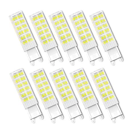 Bombillas LED G9 7W, Forma de Maiz, SMD2835, 7W Equivalente a 65w,