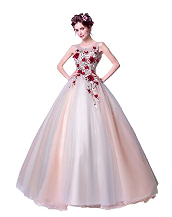 f6dd535efb05a 刺繍イブニングドレス ボレロ レース ウェディングドレスオープンバック、デコルテレース、大き いサイズ