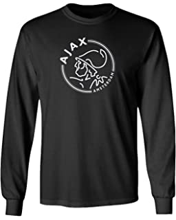Ajax Amsterdam Soccer Logo Quarter Sleeve Raglan T-Shirt