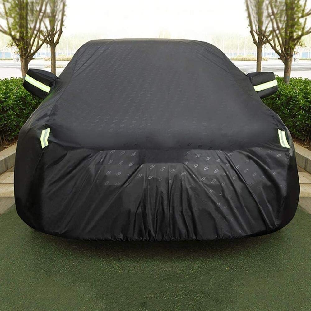 Car Covers Compatible With Audi Q3//Q5-Hybrid//Q7 E-Tron Quattro//Q8//Sq5//E-Tron Breathable Mobile Garage Outdoor Protect Car Paint Four-Layer Waterproof Anti-Frost Oxford Cloth Tarpaulin Reflective Tape