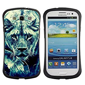 Suave TPU GEL Carcasa Funda Silicona Blando Estuche Caso de protección (para) Samsung Galaxy S3 I9300 / CECELL Phone case / / Lion Feline Hunting Savannah Big Cat Photo /