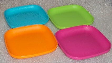 SMALL Tupperware 4 Inch Square Plates Children\u0027s Toy Size Set & Amazon.com: SMALL Tupperware 4 Inch Square Plates Children\u0027s Toy ...