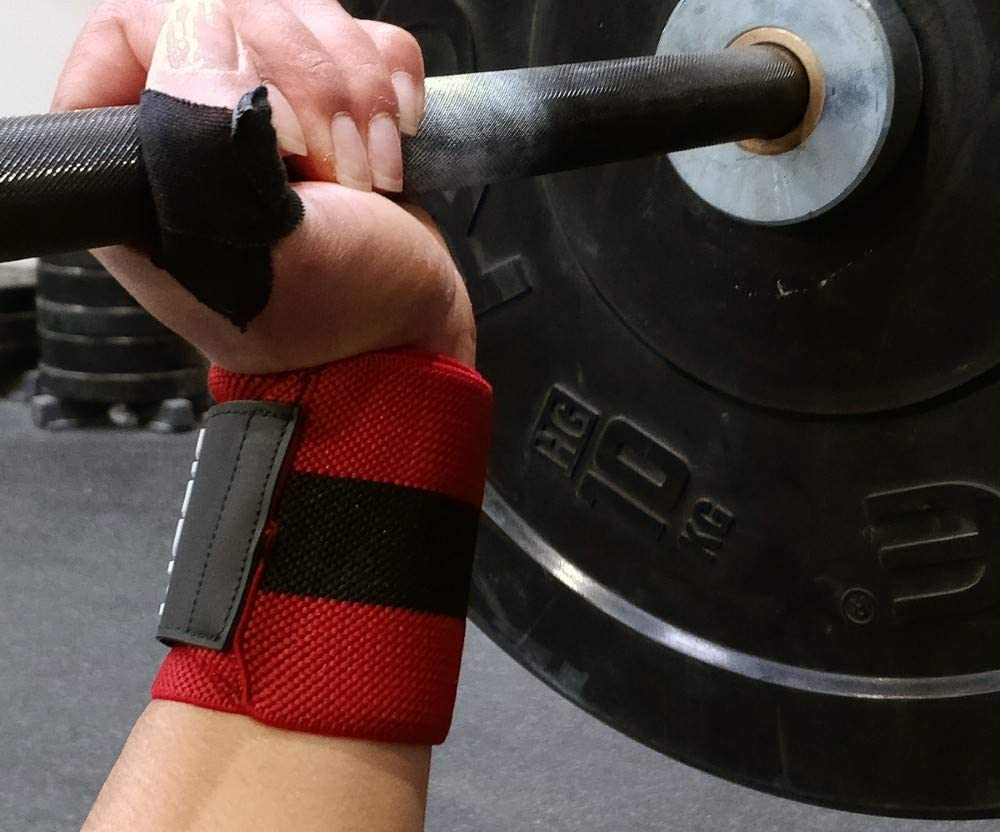Weight Lifting 18 Soporte Mu/ñeca Hombre /& Mujer Rojo Strength Training Powerlifting X PICSIL Mu/ñequeras Deportivas Profesionales