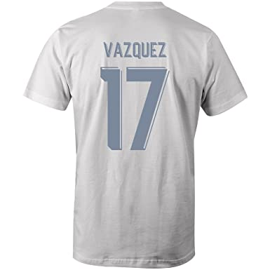 online store 330c9 971ff Lucas Vazquez 17 Club Player Style T-Shirt White/Sky: Amazon ...