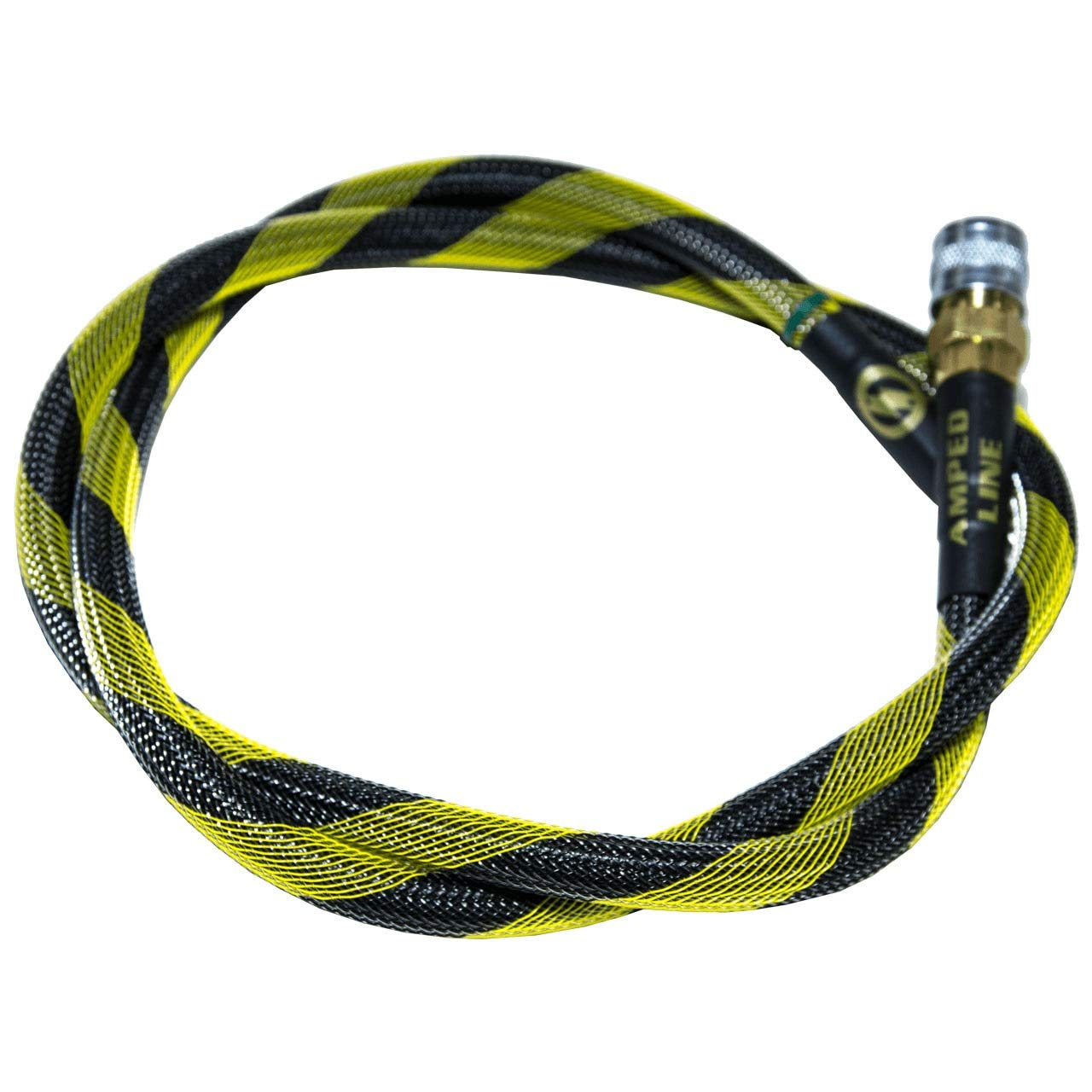 AMPED Airsoft Amped Line | Standard Weave for PolarStar, Wolverine, and Redline HPA Units 42 Inch Black & Yellow by AMPED Airsoft