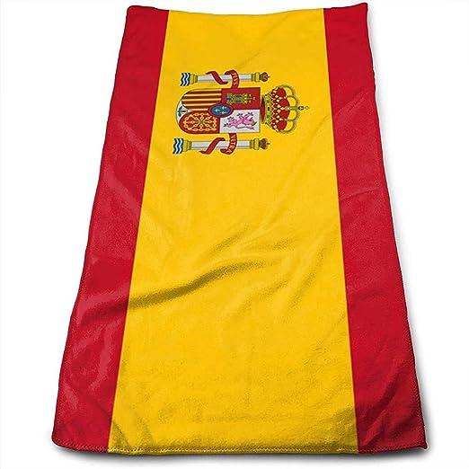 KENBOB Toallas de Mano Bandera de España Toallas de Secado de Cabello súper absorbentes Toallas Multiusos para baño, Manos, Cara, Gimnasio y SPA: Amazon.es: Hogar