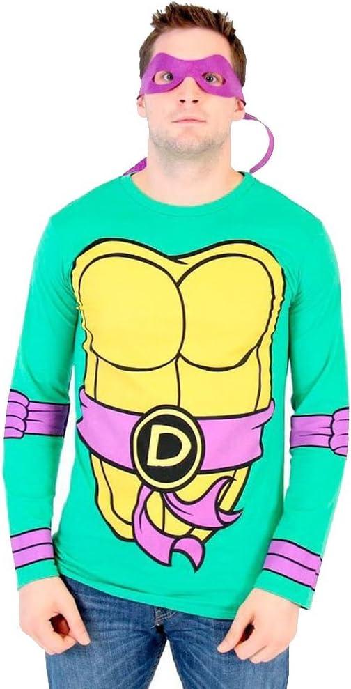 Toddler Teenage Mutant Ninja Turtles Long Sleeve Green T-Shirt Tee /& Eye Mask
