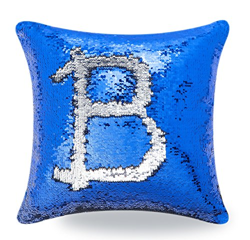 BOOBEI Two Colors Reversible Sequins Mermaid Pillow Cases 1616 (Royal Blue)